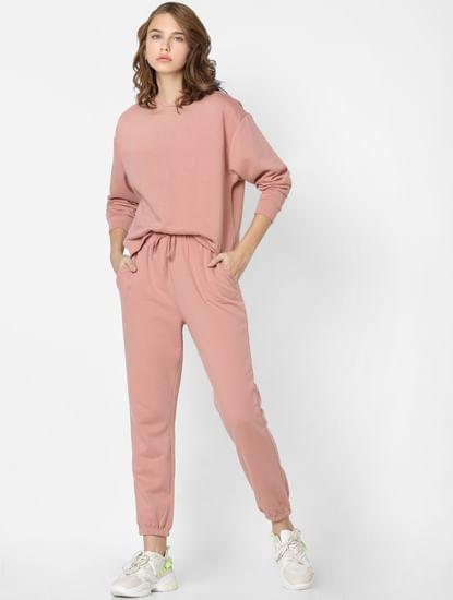 Pink Co-ord Hooded Sweatshirt