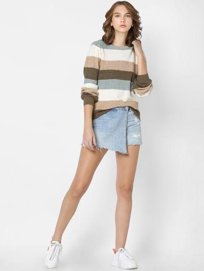 Multi-coloured Striped Pullover
