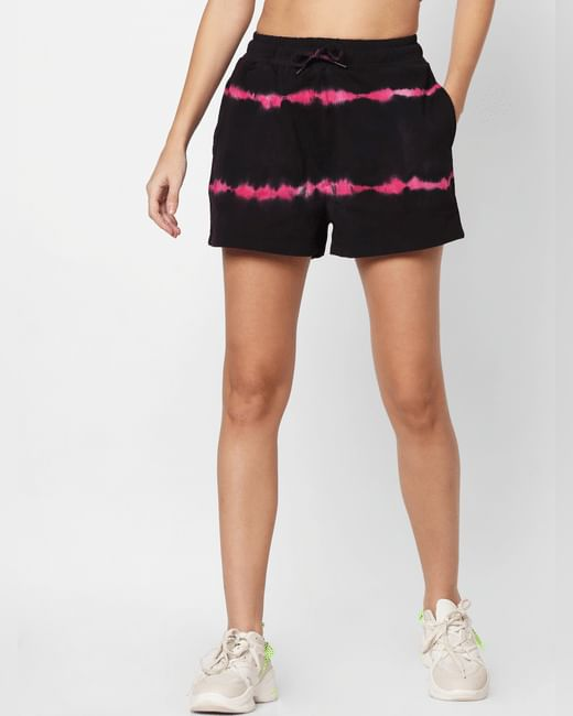 Black Tie Dye Co-ord Shorts
