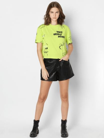 Lime Green Graphic T-shirt