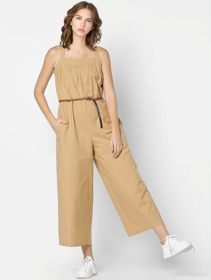 Beige Relaxed Jumpsuit