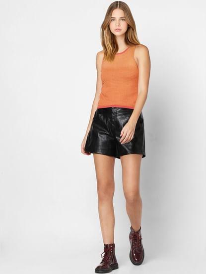 Orange Knit Top