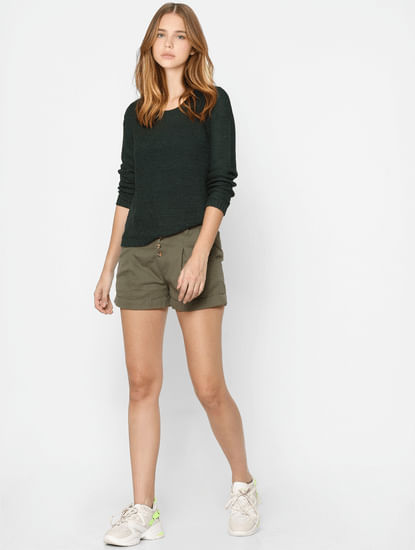 Green Knit Pullover