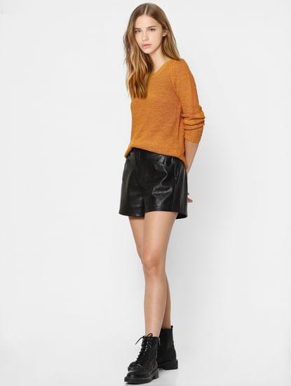 Mustard Yellow Knit Pullover