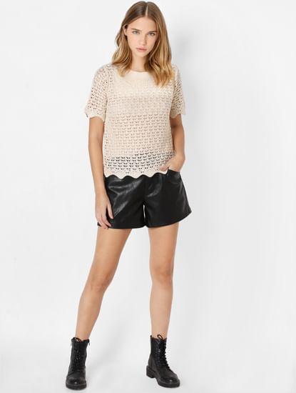 Beige Knit Pullover