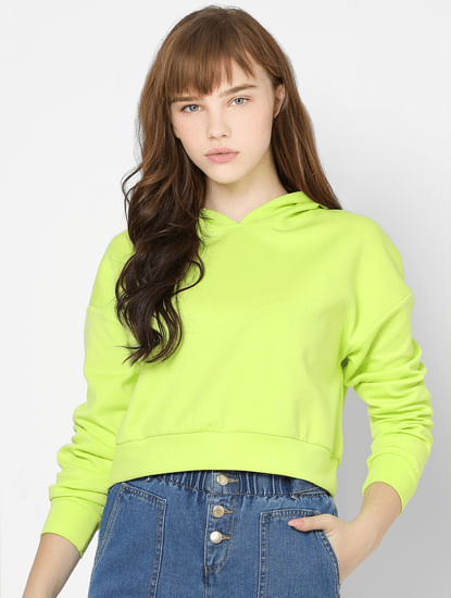 Lime Hooded Sweatshirt