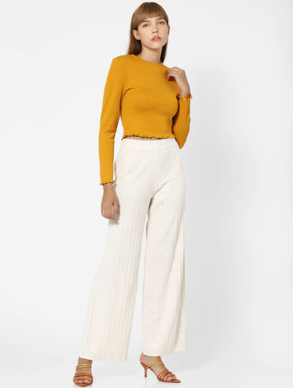 Yellow Jersey Cropped Top
