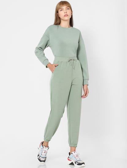 Green Mid Rise Sweatpants