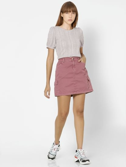 Light Pink Puff Sleeves Top