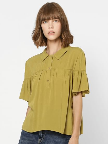 Olive Green Polo Neck Shirt
