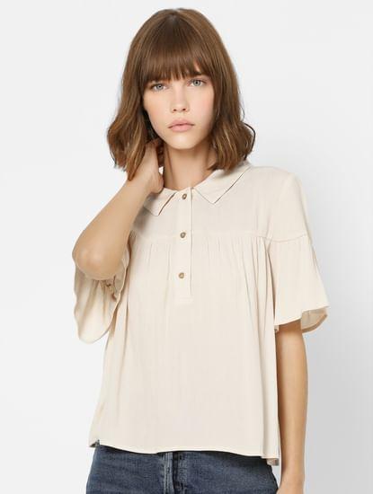 Light Pink  Polo Neck Shirt