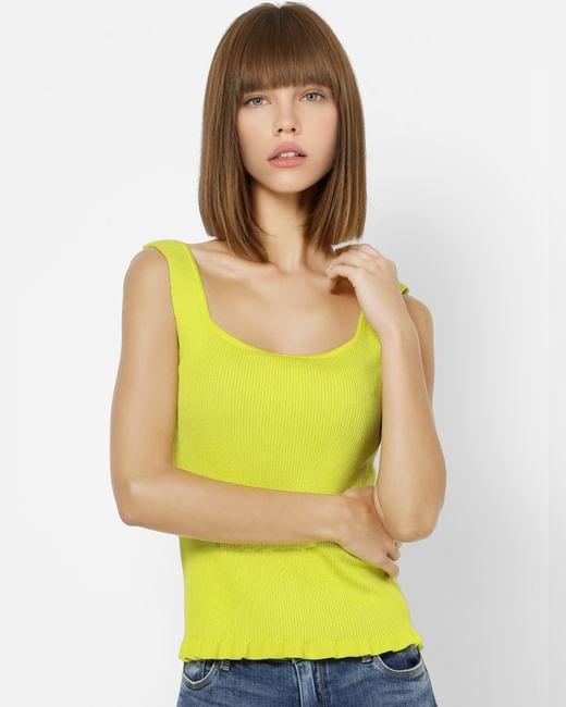 Yellow Ribbed Singlet