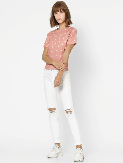 Pink All Over Floral Print Top