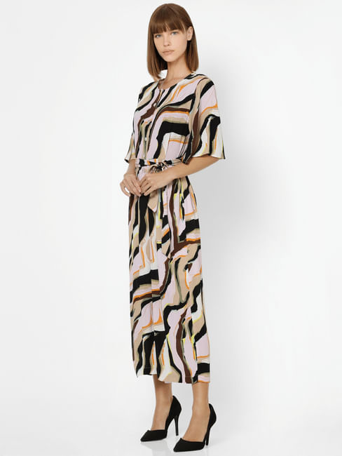 Multi-Coloured Abstract Print Jumpsuit