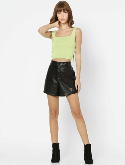 Green Cropped Singlet