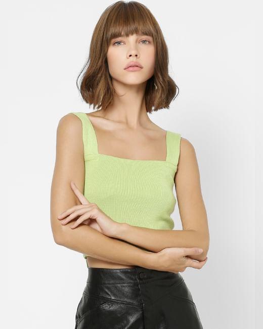 Green Cropped Singlet