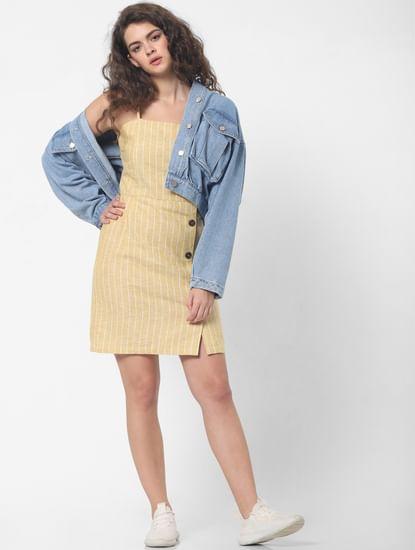 Mustard Striped Shift Dress