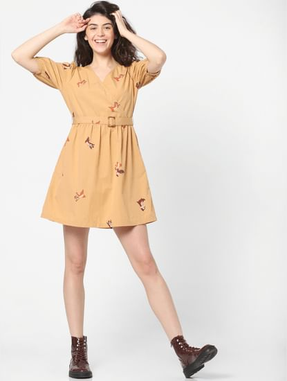 X Chip 'n Dale Printed Fit & Flare Dress