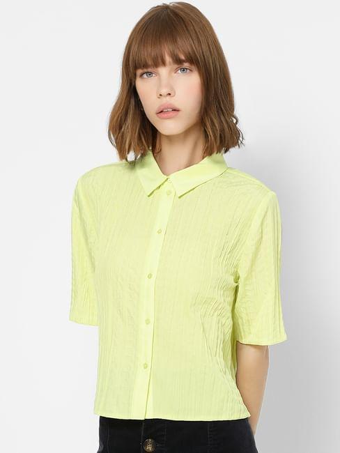 Green Textured Shirt