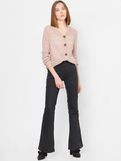 Light Pink Knit Cardigan