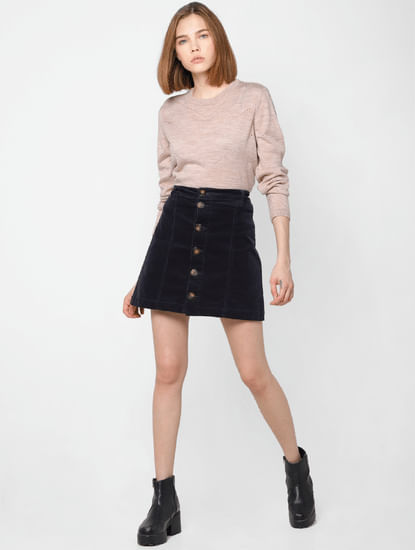 Pink Cut Work Pullover