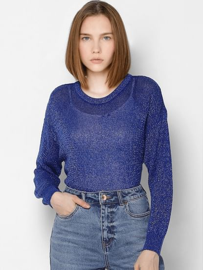 Blue Shimmer  Pullover