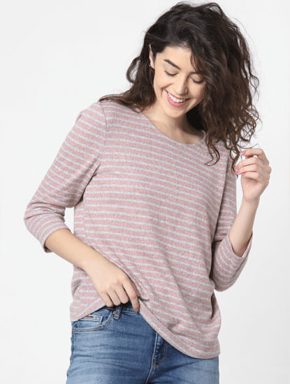 Pink Striped Top