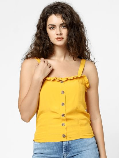 Yellow Buttoned Top