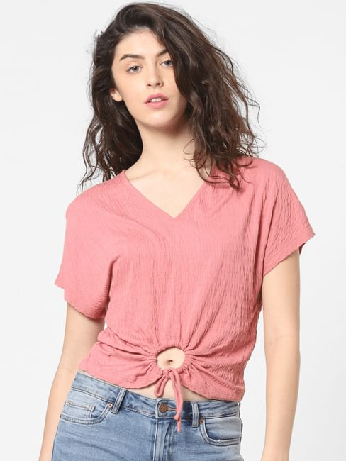 Pink O-Ring Detail Top