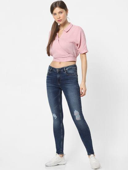 Pink Wrap Shirt