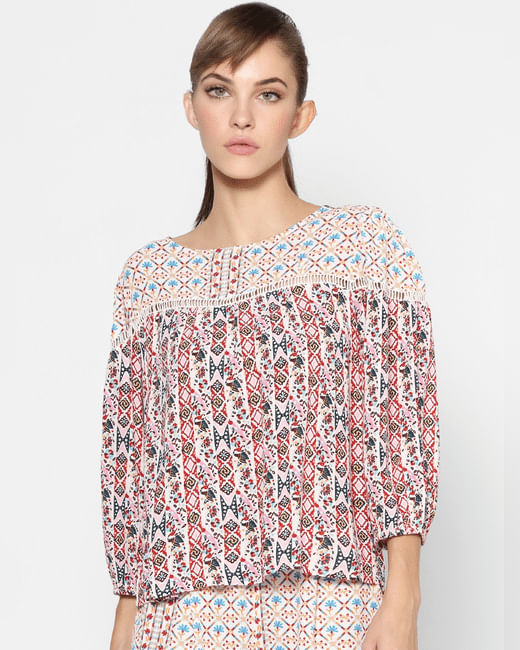 Light Pink All Over Print Top