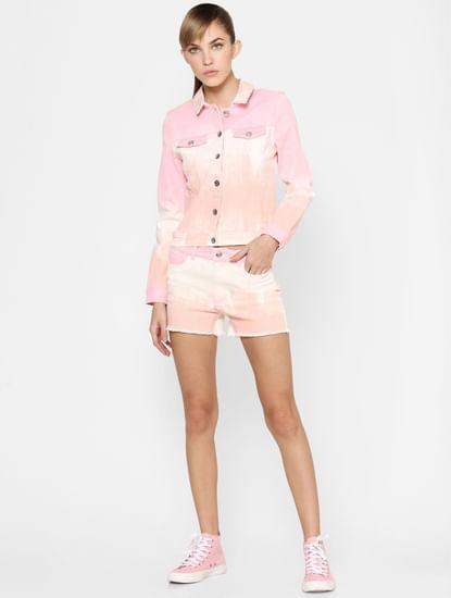 Pink Tie Dye Co-ord Jacket