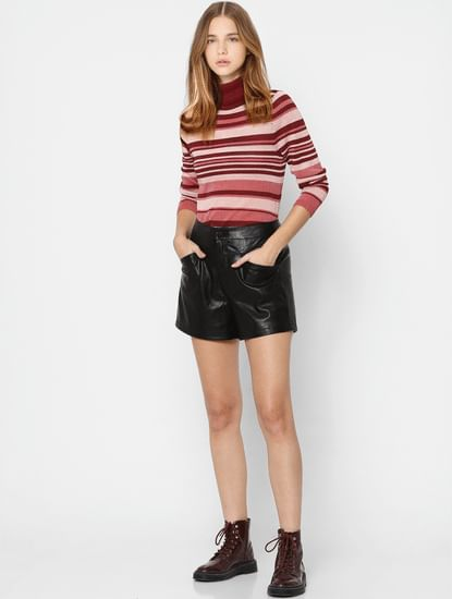 Maroon Striped Pullover