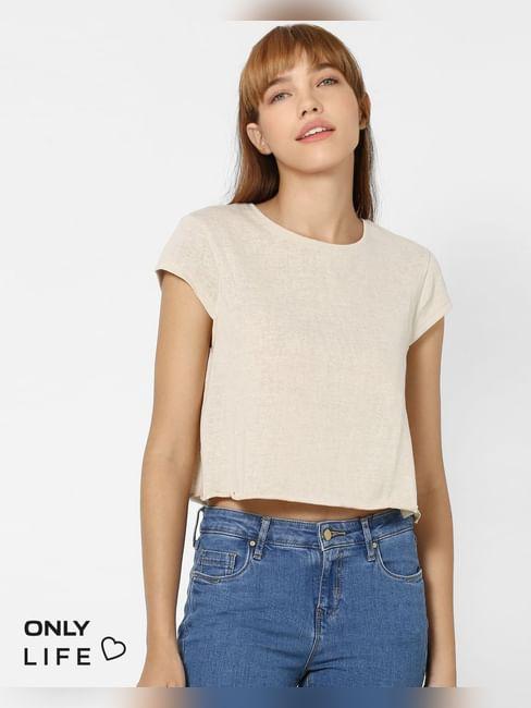 Beige Shimmer T-shirt