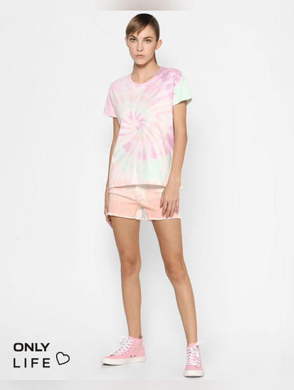 Multi-coloured Tie & Dye T-shirt