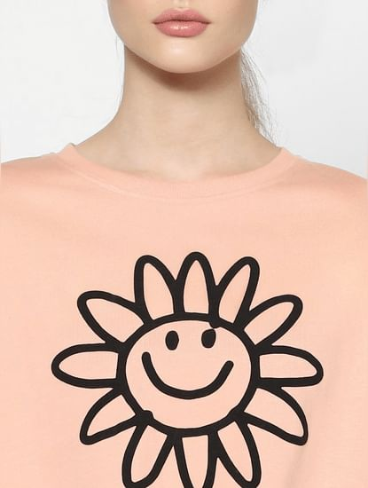 Pink Graphic Print Sweatshirt