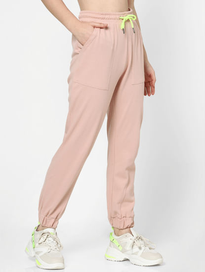 Pink High Rise Joggers