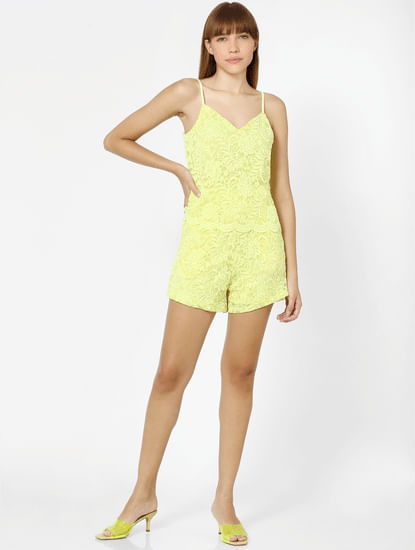 Yellow Lace Playsuit