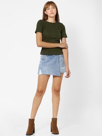 Green Ribbed T-shirt