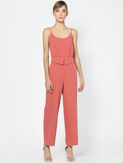 Pink Strappy Jumpsuit