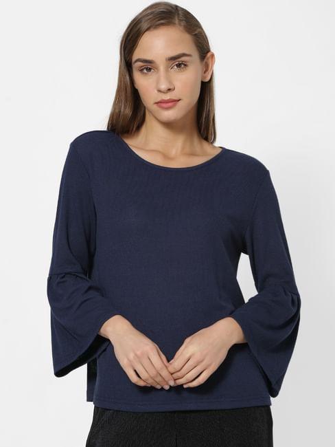 Blue Full Sleeves Top