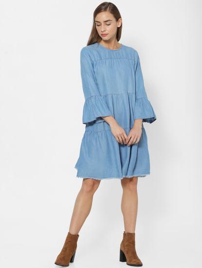 Medium Blue Denim Shift Dress