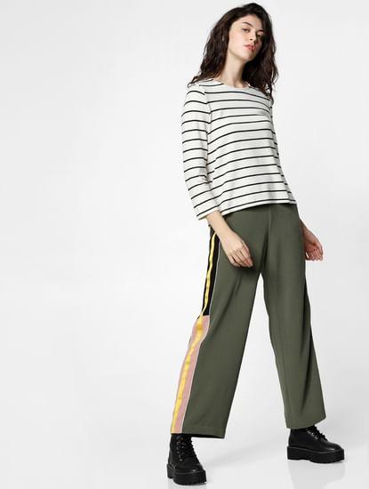 Cream Striped T-shirt
