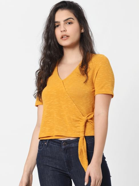 Yellow Side Knot Top