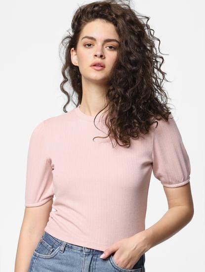 Pink Jacquard Top