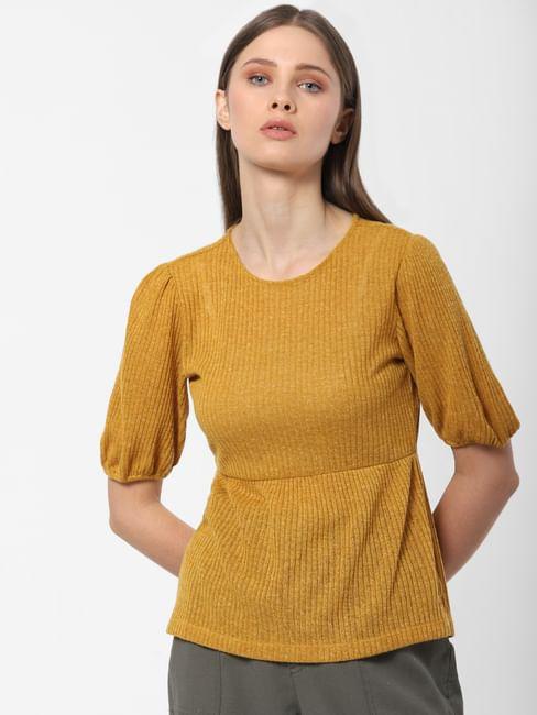 Mustard Textured Top