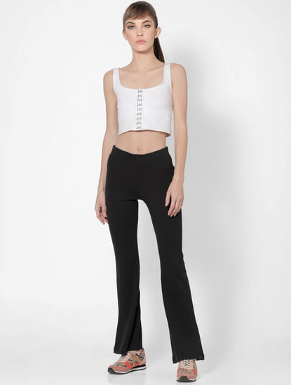 Black High Rise Flared Pants