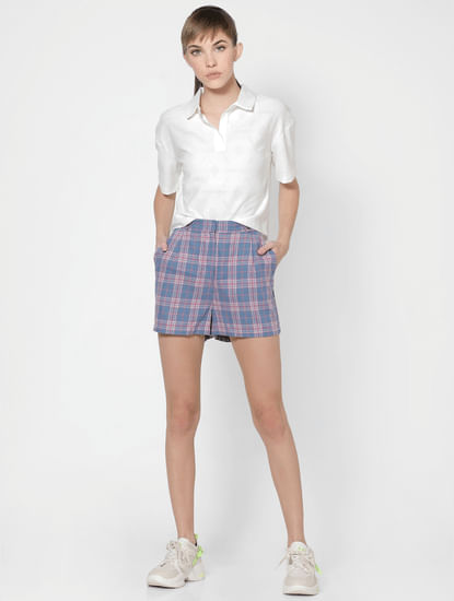 White Self Design Shirt
