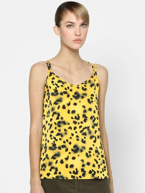 Yellow Leopard Print Top