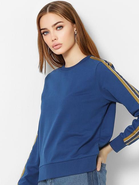 Blue Tape Detail Sweatshirt